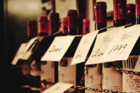 Seleçao de vinhos da Taverna Trilussa
