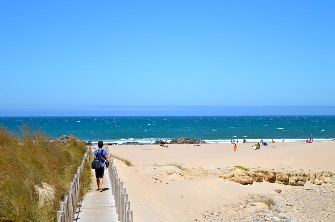 Indo à praia ao lado de Lisboa