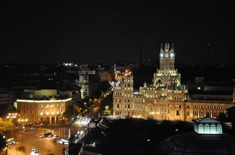 Vista do Círculo de Bellas Artes: Plaza de Cibeles
