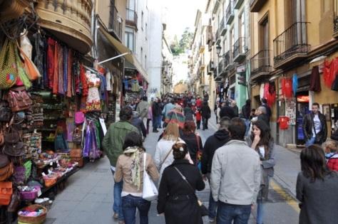 Centro de Granada, lotado na Semana Santa