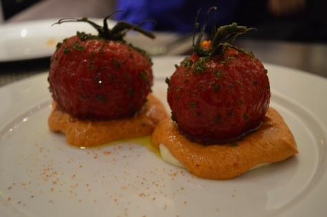 Tomates en almibar oriental