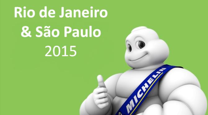 Guia Michelin Rio de Janeiro & São Paulo 2015