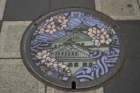 Tampa de bueiro em Osaka