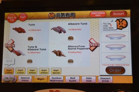 Computador individual para pedir a comida em Shibuya