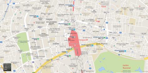Mapa Shinjuku