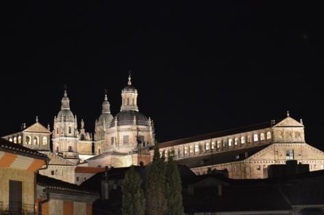 Centro histórico iluminado