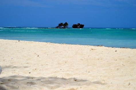 A praia do hotel