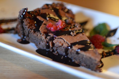 Tarta de chocolate con wasabi